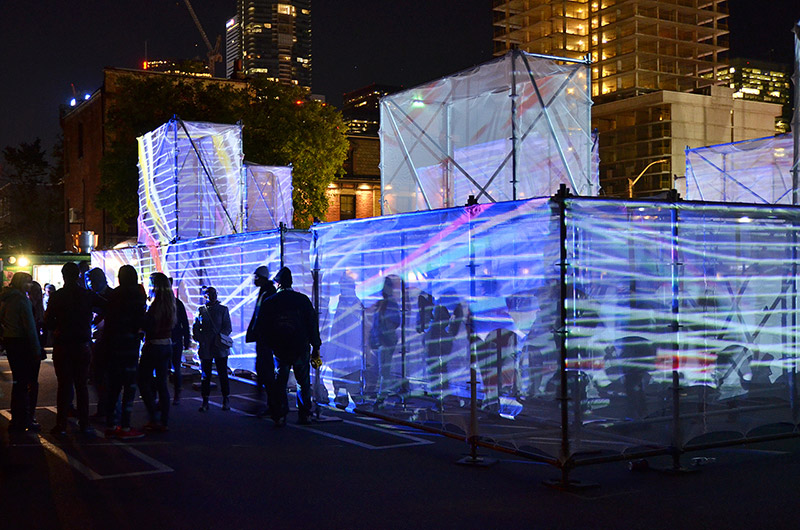 AMAZE is an installation by UNSTABLE for Socotiabank Nuit Blanche Toronto