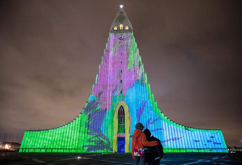 Ljósvarða by UNSTABLE @ Reykjavik Winter Lights Festival